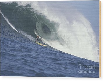 Flea On A Mavericks Giant Wood Print by Stan and Anne Foster