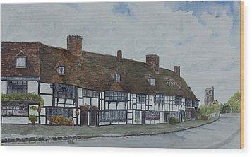 Flemish Weavers Cottages England Wood Print by Debbie Homewood