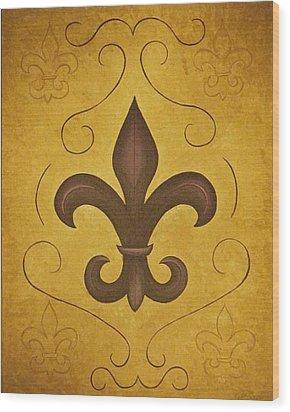 Fleur De Lis II Wood Print