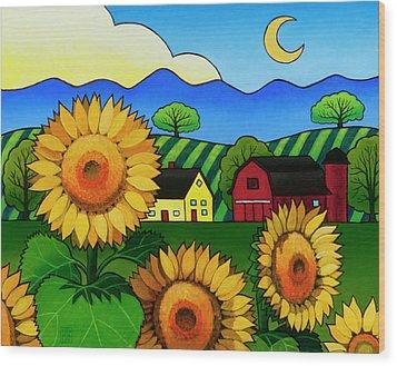 Fleur Du Soleil Wood Print
