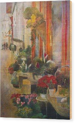 Fleuriste Wood Print by Victoria Heryet