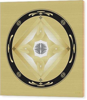 Fleuron Composition No. 246 Wood Print by Alan Bennington