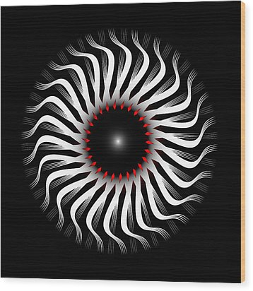 Wood Print featuring the digital art Fleuron Composition No. 82 by Alan Bennington