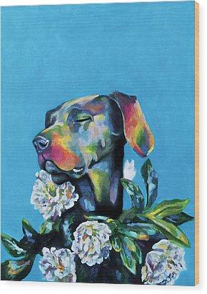 Fleur's Moment Wood Print by Arleana Holtzmann