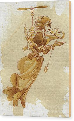 Flight Wood Print by Brian Kesinger