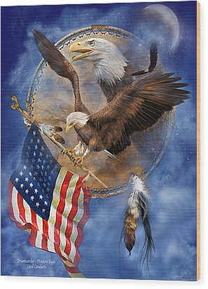 Flight For Freedom Wood Print by Carol Cavalaris