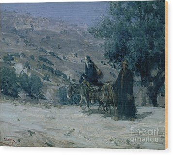 Flight Into Egypt Wood Print by Henry Ossawa Tanner
