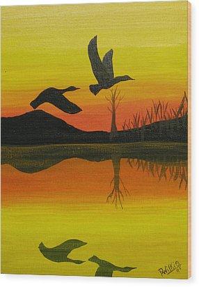 Flight Of Freedom Wood Print by Doug Wilkie