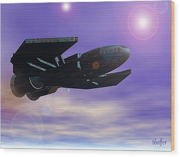 Wood Print featuring the digital art Flight Of The 501st Phoenix by Curtiss Shaffer