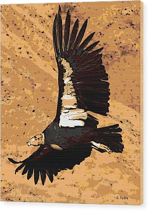 Flight Of The Condor Wood Print by George Pedro