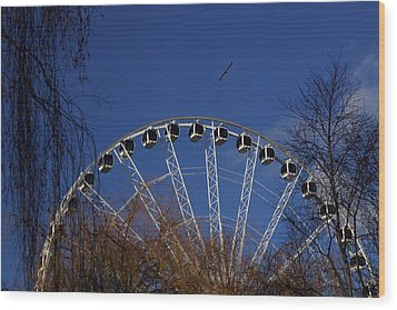 Flight Of The Ferris Wood Print by Jez C Self