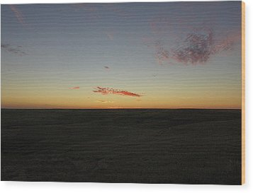 Wood Print featuring the photograph Flint Hills Dusk by Thomas Bomstad