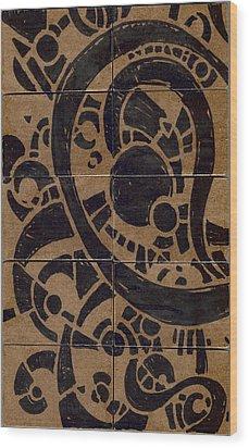 Flipside 1 Panel A Wood Print by Joseph A Langley