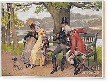 Flirtation, C1810 Wood Print by Granger