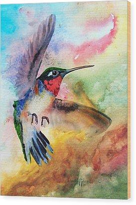 Da198 Flit The Hummingbird By Daniel Adams Wood Print