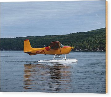 Float Plane Two Wood Print by Joshua House