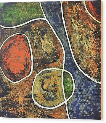 Floater 881 Wood Print by Shelley Graham Turner