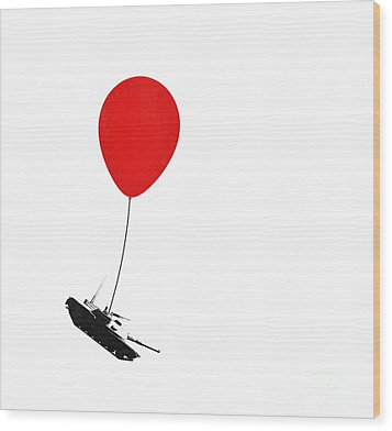 Floating Away  Wood Print by Pixel Chimp