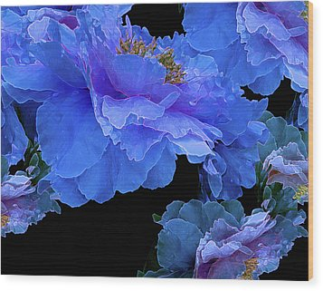 Floating Bouquet 10 Wood Print by Lynda Lehmann