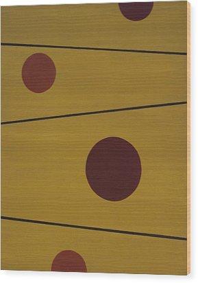 Floating Circles Wood Print by Sandy Bostelman