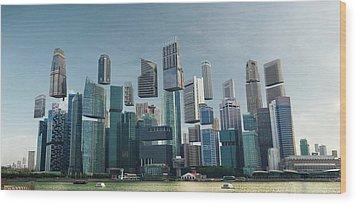 Floating City Wood Print