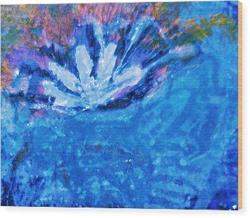 Floating Flower Wood Print by Anne-Elizabeth Whiteway