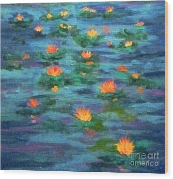 Floating Gems Wood Print by Holly Martinson