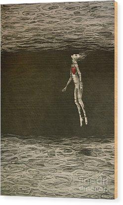 Floating Hearts #1 Wood Print