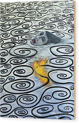 Floating Hearts Sixteen Wood Print