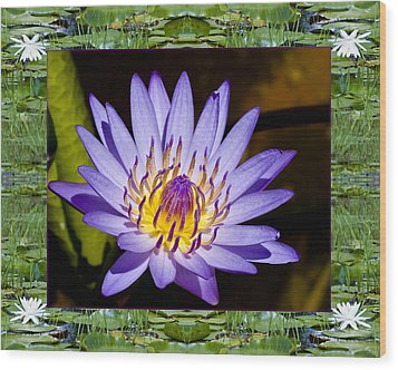 Wood Print featuring the photograph Floating Lilac by Bell And Todd