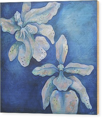 Floating Orchid Wood Print by Shadia Derbyshire
