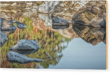 Wood Print featuring the photograph Floating Rocks by James Barber