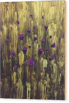 Floating Royal Roses 1 Wood Print