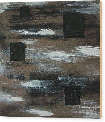 Floating Squares Wood Print by Marsha Heiken