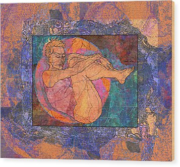Floating Woman Wood Print by Mary Ogle