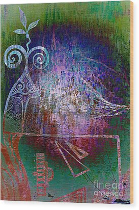 Flocking To Abstraction Wood Print