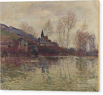 Floods At Giverny Wood Print by Claude Monet