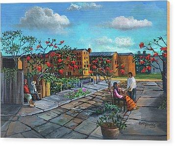 Flor De Noche Buena Wood Print