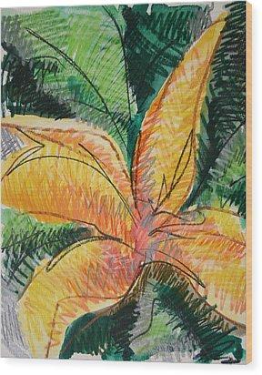Flora Exotica 2 Wood Print by Dodd Holsapple