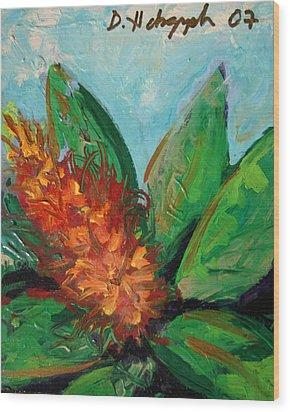 Flora Exotica B Wood Print by Dodd Holsapple