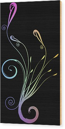 Floral 1 Wood Print by Evelyn Patrick