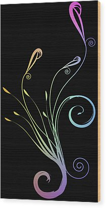 Floral 2 Wood Print by Evelyn Patrick