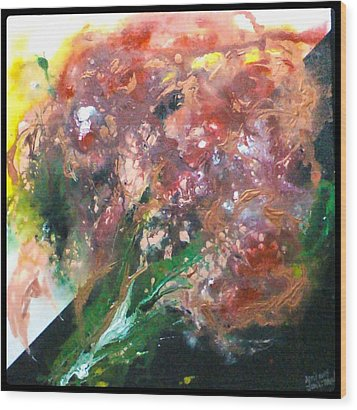 Floral Abstract Wood Print by Jan Wendt