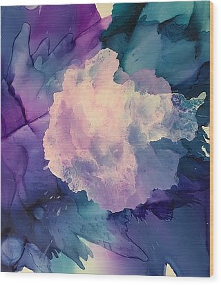 Floral Abstract Wood Print by Suzanne Canner