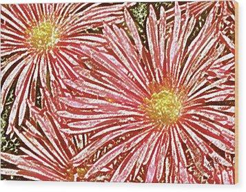 Floral Design No 1 Wood Print by Ben and Raisa Gertsberg