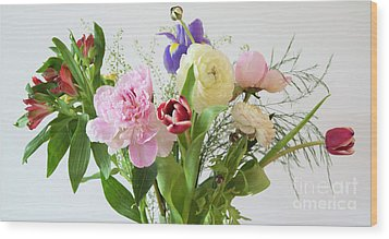 Wood Print featuring the photograph Floral Display by Wendy Wilton