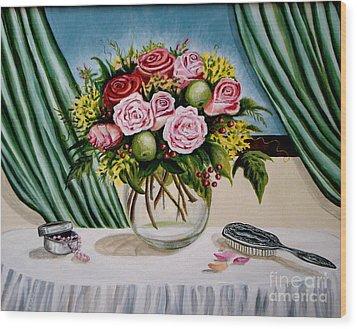 Floral Essence Wood Print by Elizabeth Robinette Tyndall
