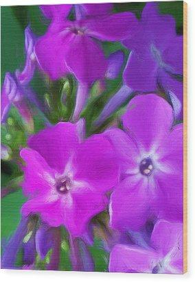 Floral Expression 2 021911 Wood Print by David Lane