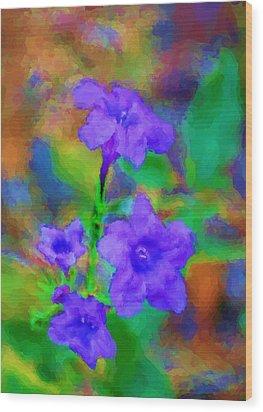 Floral Expression Wood Print by David Lane