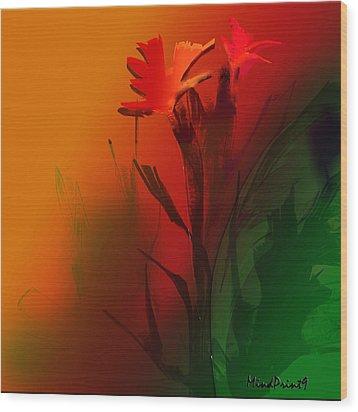 Floral Fantasy Wood Print by Asok Mukhopadhyay